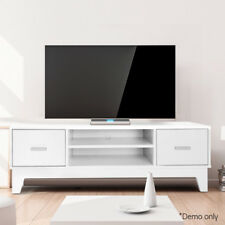 TV Entertainment Unit Stand Cabinet Lowline Corner Storage & Drawers White
