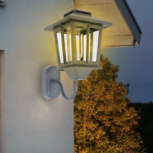Outdoor Solar Wall Lantern Wall Sconce Led Light Fixture with Wall Mount Kit