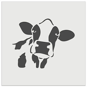 Silly Cow Face Wall Cookie DIY Craft Reusable Stencil