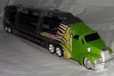 Hot Wheels Transporter Semi Truck Hauler Diecast Cars Green & Grey Rig Supermax
