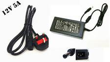 12 V 5 A AC/DC Cargador adaptador de fuente de alimentación para PC | TV | Monitor | Cctv Cámaras