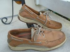 Mens Sperry Top Sider tan leather casual boat shoes sz 11M