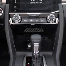 Interior Carbon Fiber Sticker Center Console Storage Box For Honda Civic 2016-19