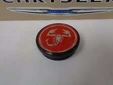 12-17 Fiat 500 Red Scorpion Wheel Center Cap New Oem Mopar Factory Individual