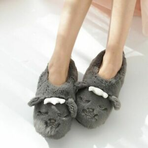 Women's Winter Home Slippers Cartoon Indoor Non-slip Thick-soled Cotton Shoes
