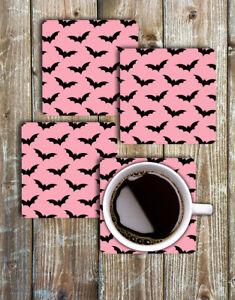 Bats Drink Coasters Set of 4 Non Slip Neoprene