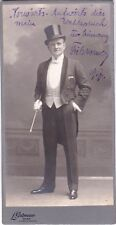 FRITZ WERNER opera & operetta signed large imperial cabinet photo