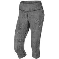 Nike Women's Zen Epic Run Tight Fit Black/White Crop Pants (849887) Size S/M/L