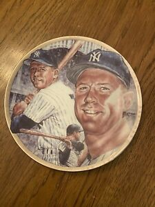 """1991 SPORTS IMPRESSIONS MICKEY MANTLE 10"""" PLATE GOLDEN YEARS PLATINUM ED EX FS"""