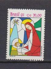 s19274) BRASILE BRAZIL 1991 MNH** Nuovo** Christmas 1v