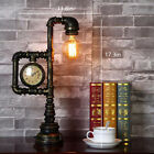New Steampunk Industrial Water Pipe Reading Table Lamp Bedside Desk Light Decor