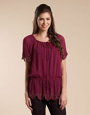 Monsoon Viscose Scoop Neck Tops & Shirts for Women