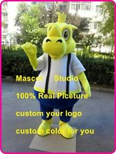Yellow Rhino Mascot Costume Suit Cosplay Party Game Dress Outfit Halloween Adult