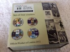 ROYAL DOULTON THE OLYMPIC MUSEUM LONDON 2012 COLLECTION SET 4 CERAMIC COASTERS