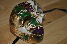 CAST Venetian Phantom/Half face Mask. Masquerade /Ball /Prom.UK STOCK.FREEPOST.