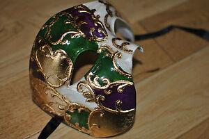 CAST Venetian Phantom/Half face Mask. Masquerade /Ball /Prom.UK STOCK.FREEPOST.