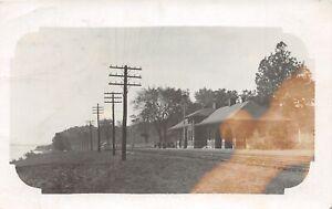 H37/ Jefferson Barracks Missouri RPPC Postcard c1910 Railroad Depot Station