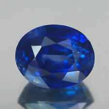 2.04CT CERTIFIED VVS OVAL HEATED ONLY BLUE CEYLON SAPPHIRE NATURAL
