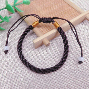 1X Red Lucky Handnade Braided Chinese Rope Cord Bracelet