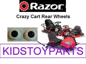 2x Razor Crazy Cart Rear Wheels