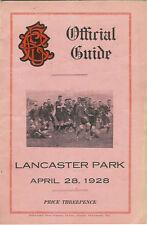 Christchurch, linwood, Varsity, viejos 28 de abril de 1928 de Canterbury, Nueva Zelanda Rugby Prog