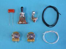 Guitar Wiring Kit 1 Volume, 1 Tone, Toggle, CTS Pots, Orange Drop Cap