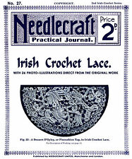 Needlecraft Practical Journal  #27 c.1903 Vintage Irish Crochet Lace Patterns