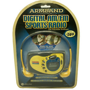 Lifelong Armband Digital AM/FM Portable Sports Radio Headphones LJR-100