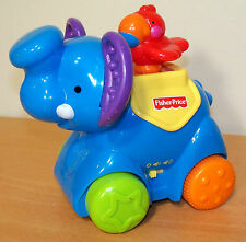 Fisher-Price Amazing Animals Push 'n Go Musical Elephant - VGC