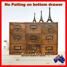 French Provincial Timber Pigeon Hole Mounted Chest of 9 Drawers Storage A25-1