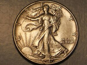 1945 Walking Liberty Half Dollar (XF/AU & Attractive)