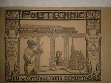 """RARE ANCIEN JEU DE CONSTRUCTION EN BOIS """"POLYTECHNIC""""1930 ARCHITECTURE"""