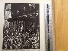 1920s Woodcut Print Scene-shifting by Dr Emma Bormann : theatre, acting