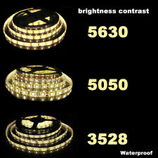 5M 10M SMD 3528 5050 5630 300LEDs RGB White LED Strip Light 12V Power Supply US