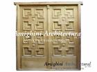Antique Double Paneled Solid Door. C1276