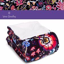 "Vera Bradley Super Soft Plush Cozy Life Throw Blanket in FOXWOOD 50"" w x 70"" h"