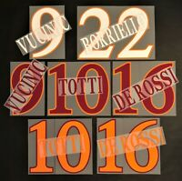 NOME+NUMERO UFFICIALE AS ROMA HOME/AWAY/3RD 2009-2011 official nameset