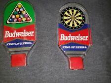 Budweiser Vintage Pool/billiards & Dart Board Beer Tap Handles Lucite Acrylic