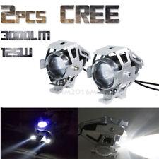 2 Pcs 125W U5 Motorcycle Motorbike Headlight Cree LED Fog Spot Lights Bulb