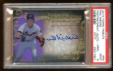 PSA 9 PHIL NIEKRO 2015 TOPPS TRIBUTE AUTO /10 PURPLE REFRACTOR ON CARD AUTOGRAPH
