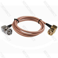 1.5 Meters BNC Male Right Angle to SMA Male RA RG142 Pigtail Coaxial Cable