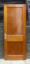 "30""x76"" Antique Vintage Old Reclaimed Solid Wood Wooden Interior Door 2 Panels"