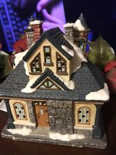 Christmas Village Building Hotel W/Light Cord By Mercuries 1994