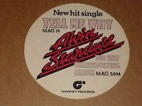 Alvin Stardust 1974 Magnet Records unused Promo Sticker