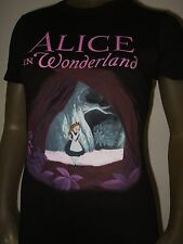 Nwt Juniors Small Black Disney Alice In Wonderland Purple Tree Fitted Shirt Tee