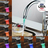 Kitchen Color Changing Glow Water Tap Water Faucet LED Light Temperature Sensor