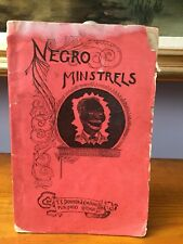 Negro Minstrels With Men's Jokes Gags Speeches By Townsend 1891 Racist Americana