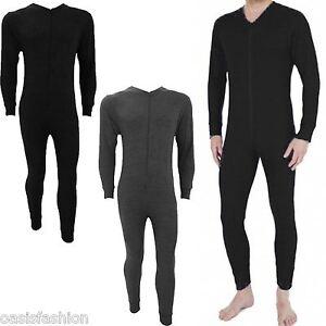 Mens Thermal Onesie1 All In One Underwear Zip Up Suit Baselayer Ski Sizes S-2XL