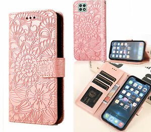 Galaxy A22 5G Embossed Pu Leather Wallet Case Floral