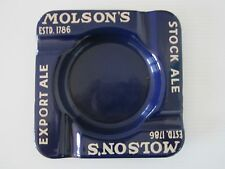 Vintage/Antique Molson's Export Ale advertising porcelain ashtray Beer Man Cave